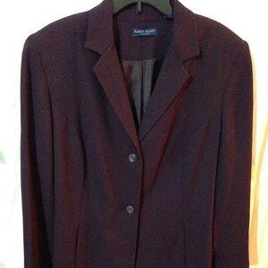 Karen Scott Pant Suit 2pc Aubergine